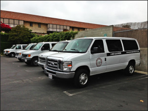 We offer 12 and 15 passenger shuttle vans.