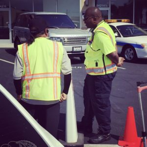 We offer professional crossing guard services..